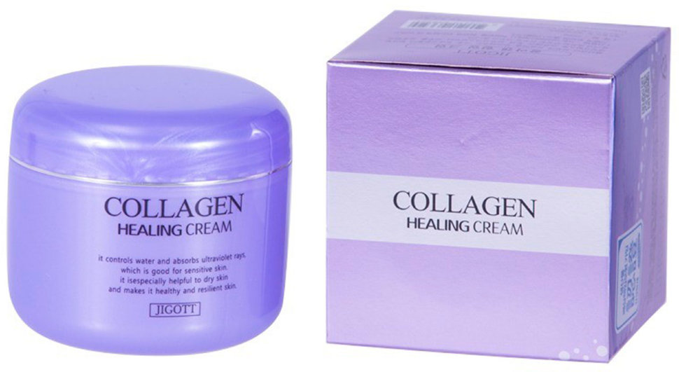 Крем с коллагеном Jigott Collagen Healing Cream, 100 г