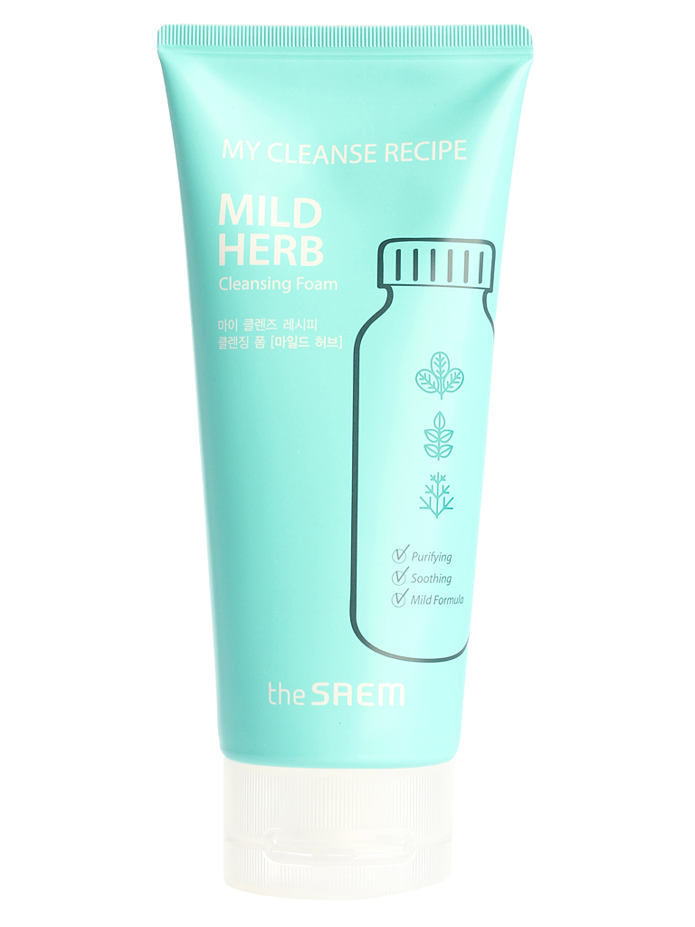 Пенка для умывания The Saem My Cleanse Recipe Cleansing Foam-Mild Herb, 150 мл